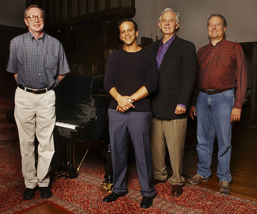 Bruce Babcock, Aaron Zigman, Bruce Broughton and Don Davis (Photograph by Annamaria DeSanto)