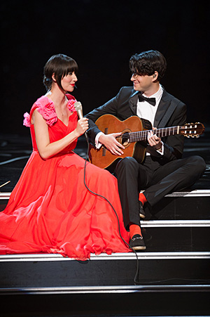 Karen O with Ezra Koenig