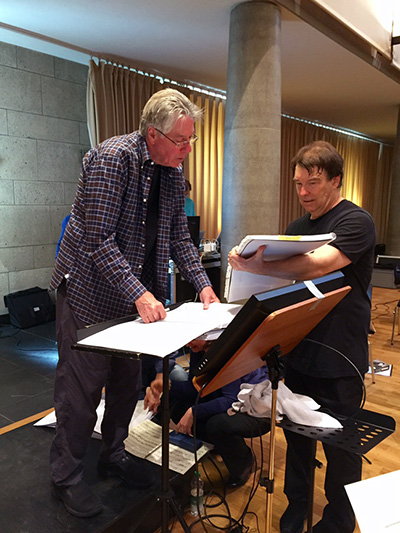Alan Silvestri and David Newman in rehearsal (Photo by Sandra Silvestri)