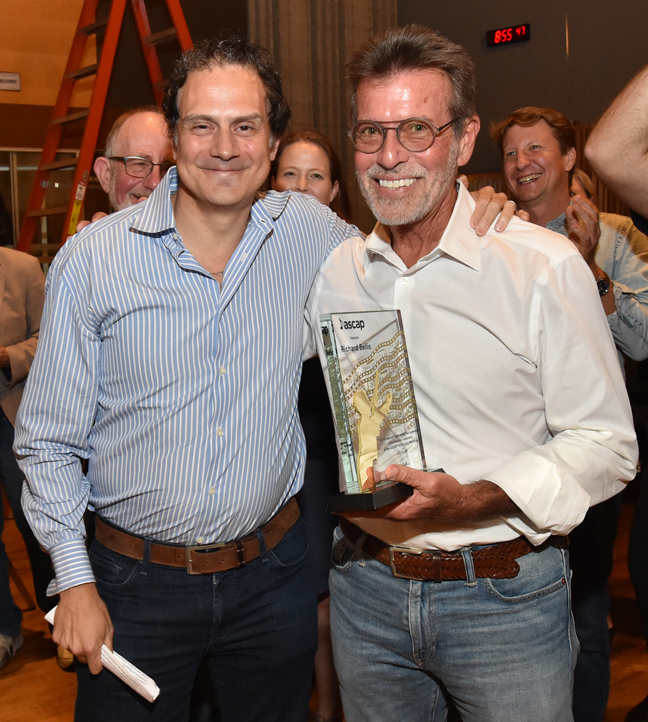 (L to R) ASCAP senior director of film and television music Mike Todd with composer Richard Bellis. Photo by Lester Cohen