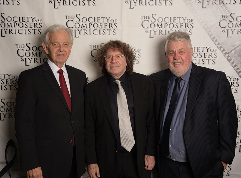 (L to R) Bruce Broughton, Randy Edelman, and Ashley Irwin