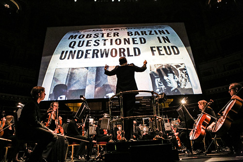 <i>The Godfather Live</i> conducted by Justin Freer at Royal Albert Hall, December 2014 (Photo by Christie Goodwin)