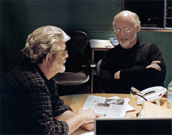 Lucas and Williams during production of