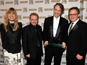 (Left to right) <i>Twilight</i> director Catherine Hardwicke, ASCAP president Paul Williams, Carter Burwell and <i>Gods and Monsters</i> director Bill Condon (photograph courtesy of ASCAP)