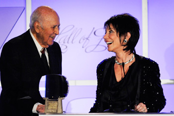 Carl Reiner and Laura (Mrs. Earle) Hagen
