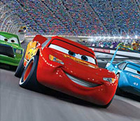 Owen Wilson as the voice of Lightening McQueen in