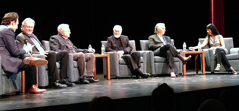 (L to R) Moderator Ben Proudfoot, Don Davis, Randy Newman, John Williams, Bruce Broughton and Gloria Cheng.