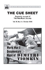 The Cue Sheet, Vol. 20, No. 4 (Oct. 2005)