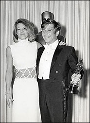 With Angie Dickinson, receiving Oscar for