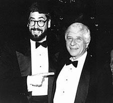 With John Landis, 1980s