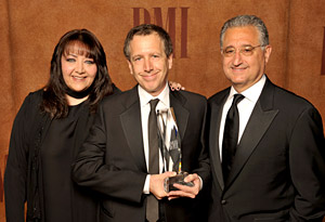 Doreen Ringer Ross, Peter Golub (2008 BMI Classic Contribution Award) and Del Bryant (photo courtesy of BMI)