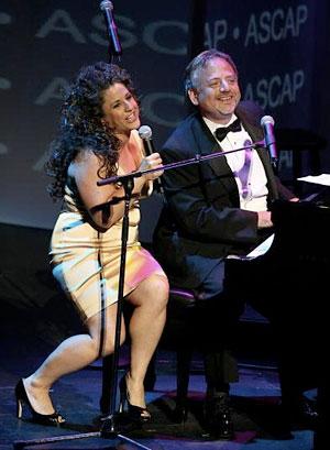 Marissa Jaret Winokur with Marc Shaiman