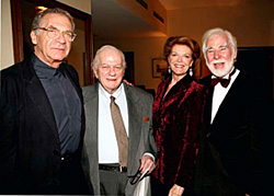 Sydney Pollack, Charles Durning, Samantha Eggar and John Scott