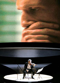Medley of Best Score nominees is performed by virtuoso Itzhak Perlman accompanied by Bill Conti\'s orchestra.