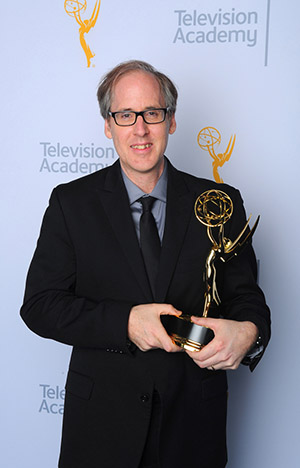 Jeff Beal, winner of the Emmy for outstanding music composition for the series <i>House of Cards</i>
