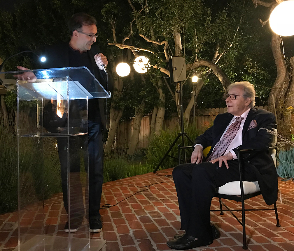 French Consul General Christophe Lemoine honors Lalo Schifrin