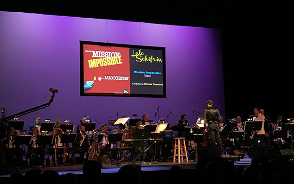 Composer Michael Giacchino conducts Lalo Schifrin's original arrangement to the theme from 'Mission: Impossible.'