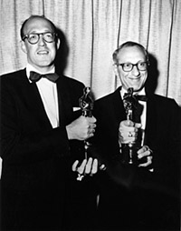 Livingston and Evans accepting their Best Song Oscar for