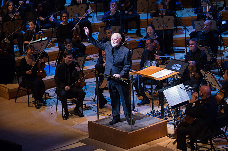 John Williams receives standing ovation.