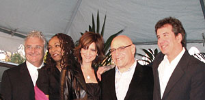 Left to right) Randy Newman, Siedah Garrett, Anne Preven, Henry Krieger, Scott Cutler