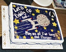 ...boldly going where no cake has gone before...