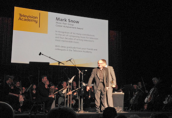 Mark Snow receives the TV Academy's Career Achievement Award